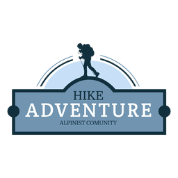 Hike adventure retro badge