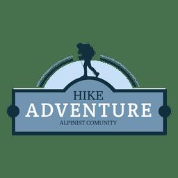 Insignia de caminata aventura retro