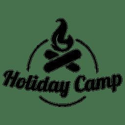 Emblema de viaje campamento de celebración