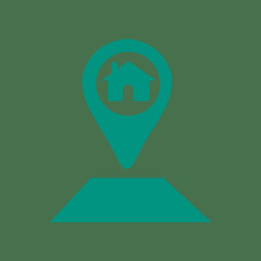 Ícone de ponteiro de localização em casa Transparent PNG