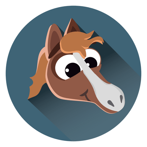 Pferdekarikaturkreissymbol