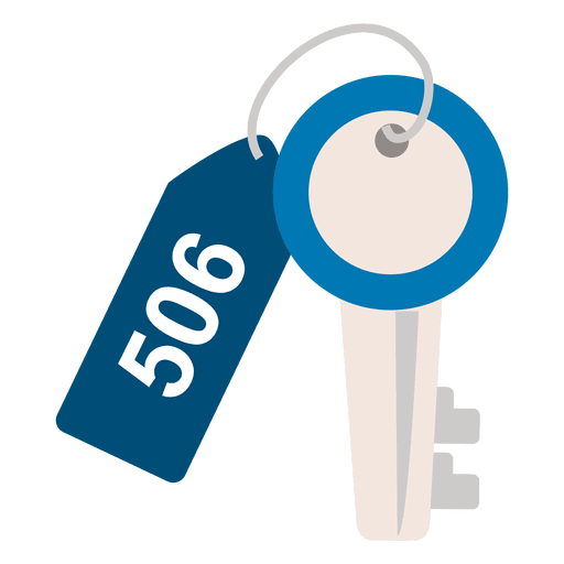 Hotel key travel icon Transparent PNG