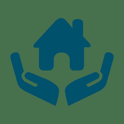 Casa em ícone de mãos Transparent PNG