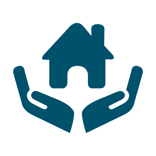 House in hands icon Transparent PNG