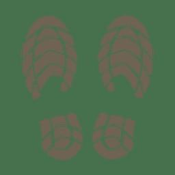 Human footprint silhouette