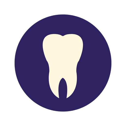 Human tooth flat icon Transparent PNG
