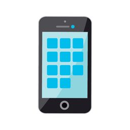 Icono plano de iphone