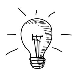 Ícone de mão desenhada de ideia