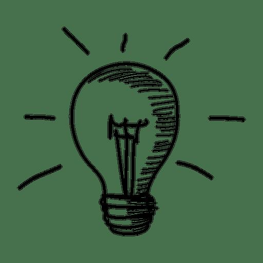 Ícone desenhado à mão da ideia