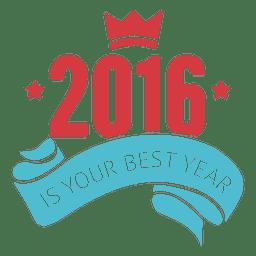 Insignia inspiradora de año nuevo 2016