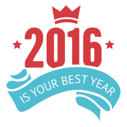 Inspirational new year 2016 badge