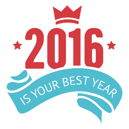 Inspirational new year 2016 badge Transparent PNG