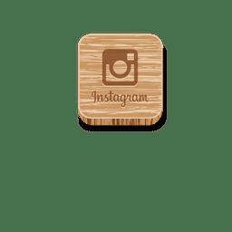 Instagram icono de estilo de madera