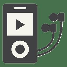 Ícone plana do iPod