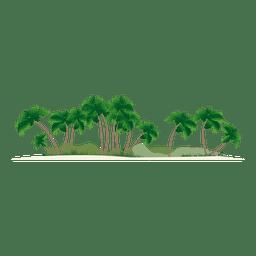 Insel-Silhouette