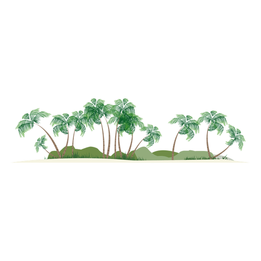 Island silhouette Transparent PNG