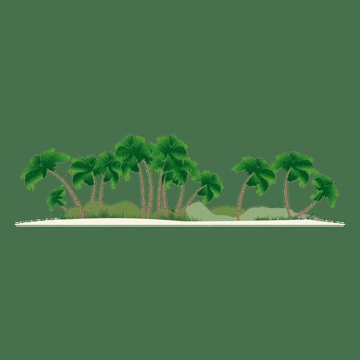 Silhueta da ilha Transparent PNG