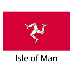 Ilha da bandeira nacional do homem