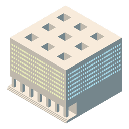 Isometric 3d courthouse