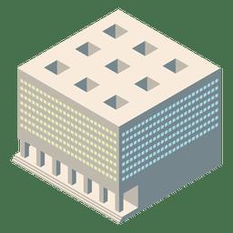 Palacio de justicia isométrica 3d