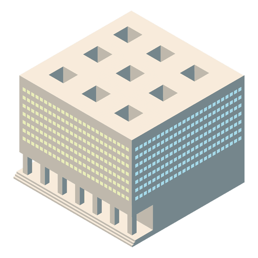 Isometric 3d courthouse Transparent PNG