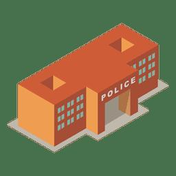 Estación de policía 3d isométrica