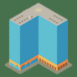 Complejo de apartamentos isométrico de construcción