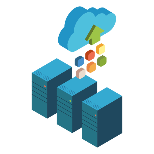Servidores de computación en la nube isométrica Transparent PNG