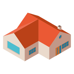 Isometric flat house building
