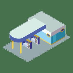 Ícone da estação de gasolina isométrica