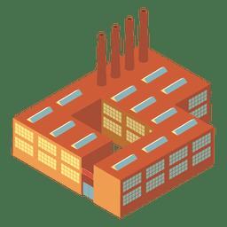 Edifício industrial isométrico