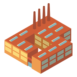 Isometric industrial building