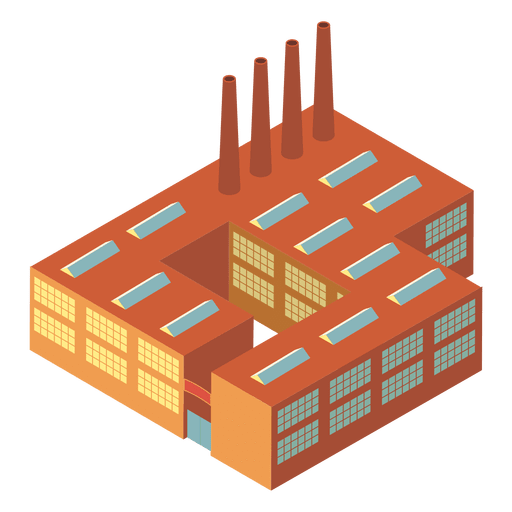 Isometric industrial building Transparent PNG