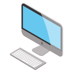Computadora mac isométrica