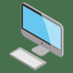 Isometrischer Mac-Computer