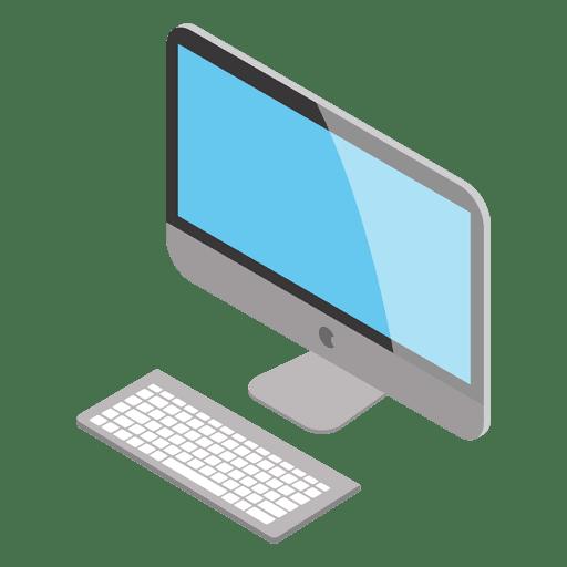 Isometric mac computer Transparent PNG