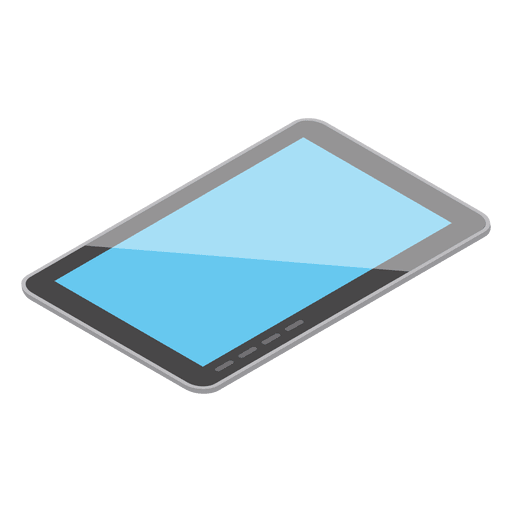 Isometric tablet device Transparent PNG