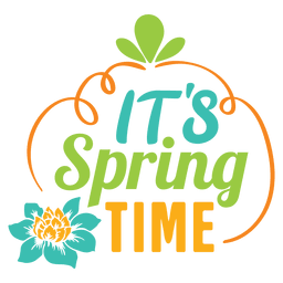 Its spring time label