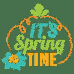Su etiqueta de tiempo de primavera
