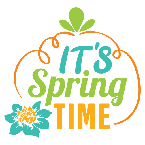Its spring time label Transparent PNG