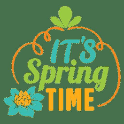 Su etiqueta de primavera