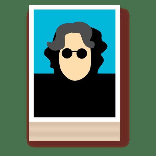 Personaje de John lennon músico Transparent PNG