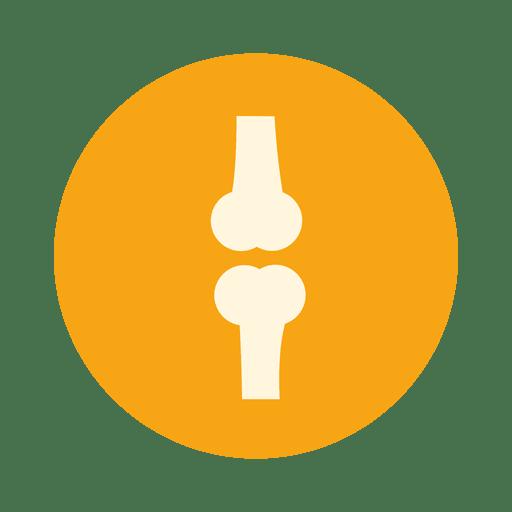Icono de círculo de hueso unido Transparent PNG