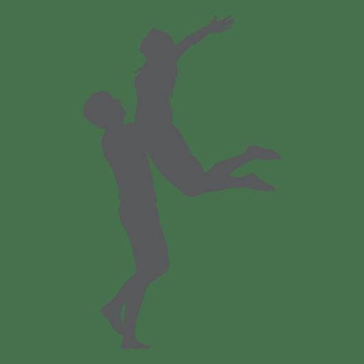 Saltando en la silueta de los amantes del regazo Transparent PNG
