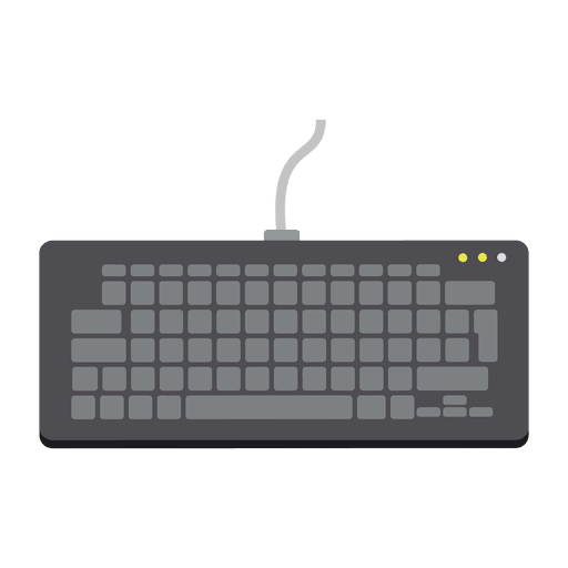 Flat keyboard icon Transparent PNG