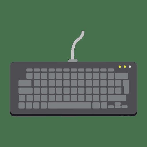 Flat keyboard icon