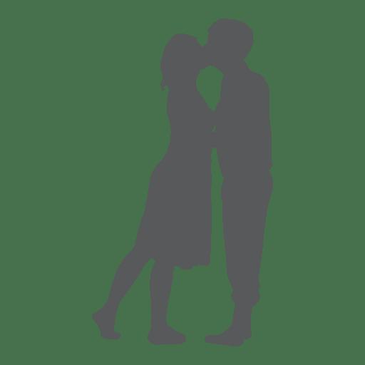 Besando la silueta de los amantes del romance. Transparent PNG