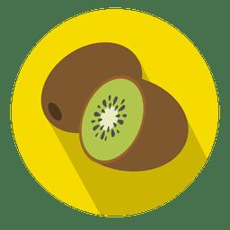 Icono de círculo de fruta de kiwi
