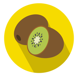Kiwi fruit circle icon