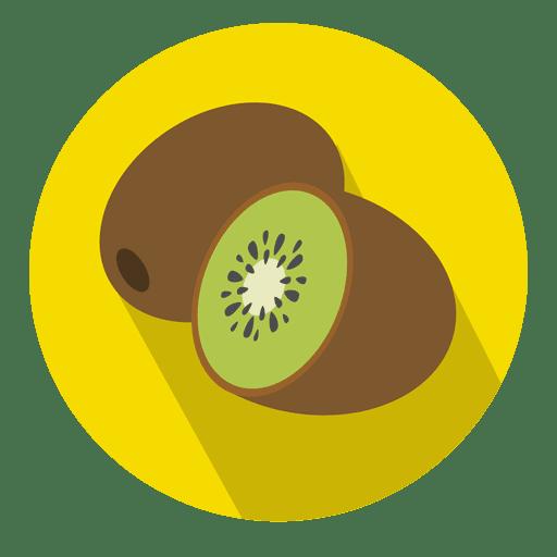 Icono de círculo de fruta de kiwi Transparent PNG